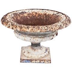 Cast Iron Indigo Urn, circa 19th Century