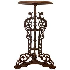Cast Iron Iron Garden Stand / Table