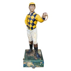 Cast Iron Lawn Jockey from the 1900s, in Great Paint