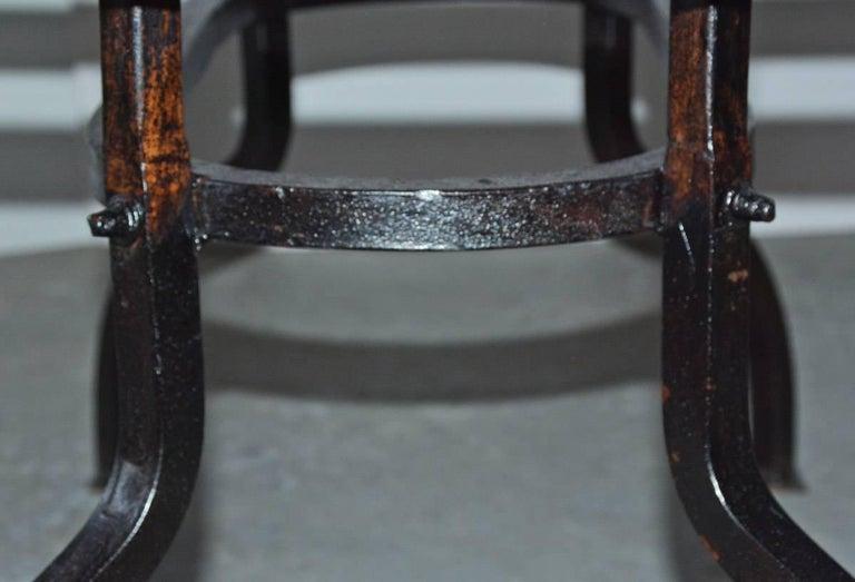 Cast Iron Metal Top Indoor or Outdoor Garden Coffee Table For Sale 2