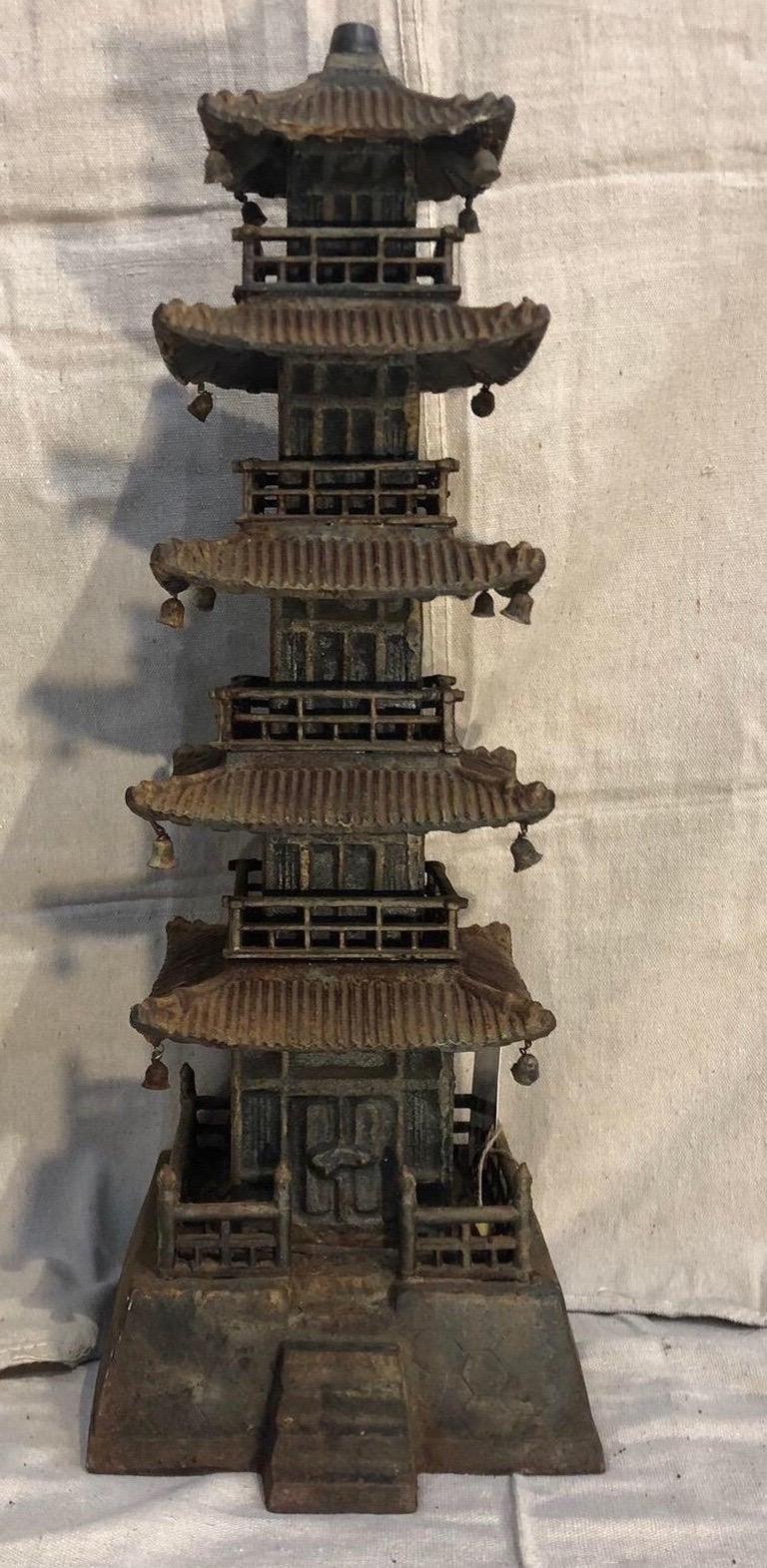 20th Century Cast Iron Pagoda For Sale