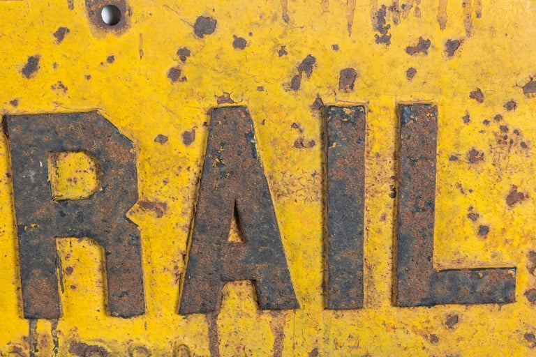 American Cast Iron Railroad DERAIL Sign, Early 20th Century For Sale
