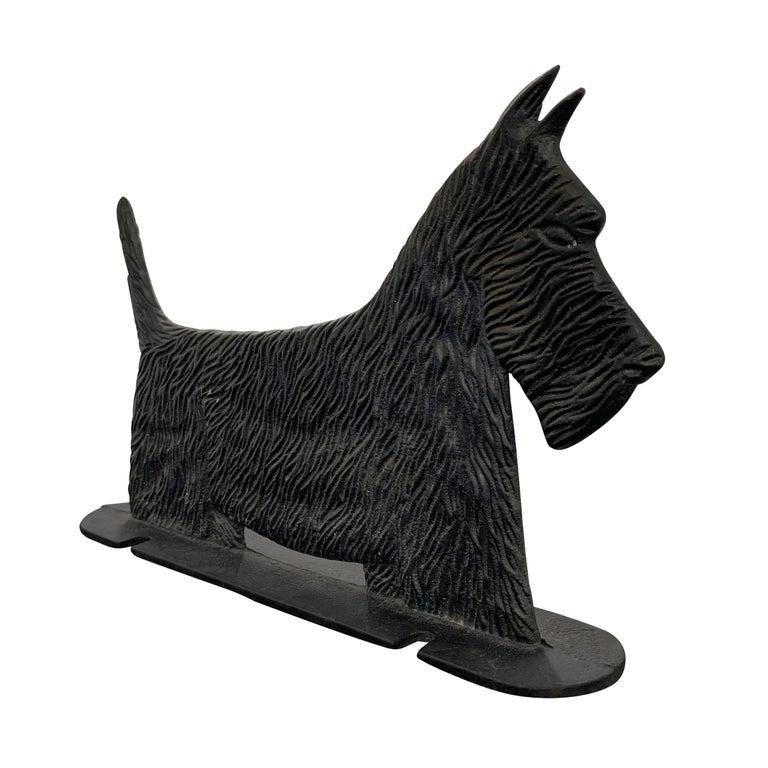 American Cast Iron Scottie Terrier Bootscrape For Sale