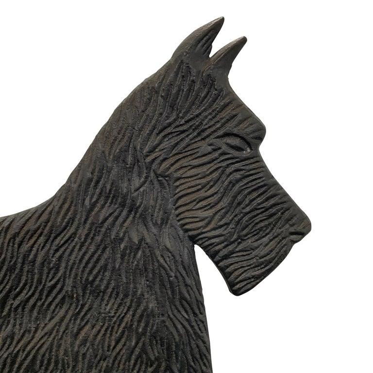 20th Century Cast Iron Scottie Terrier Bootscrape For Sale