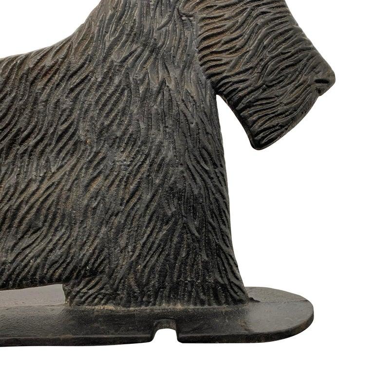 Cast Iron Scottie Terrier Bootscrape For Sale 1