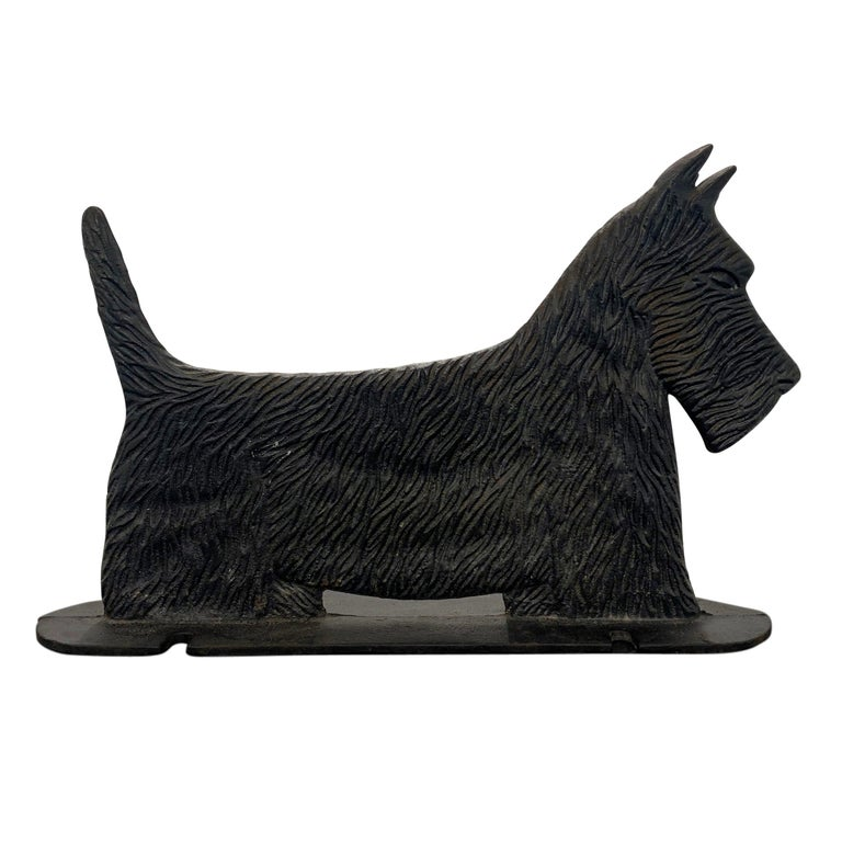 Cast Iron Scottie Terrier Bootscrape For Sale
