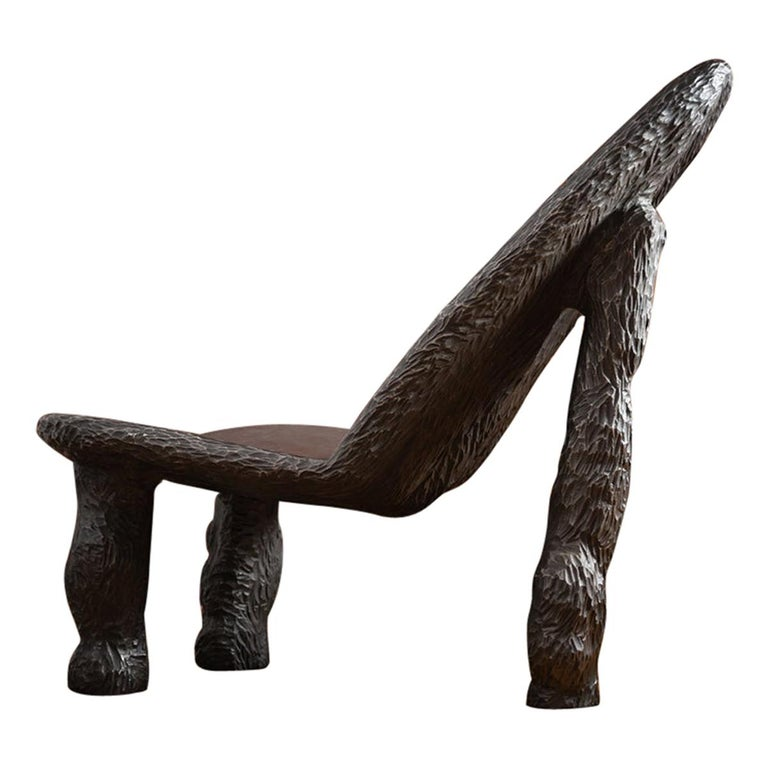 Cast Iron Sculptural Chair by Tellurico 'Aesthetics Follows Process' For Sale