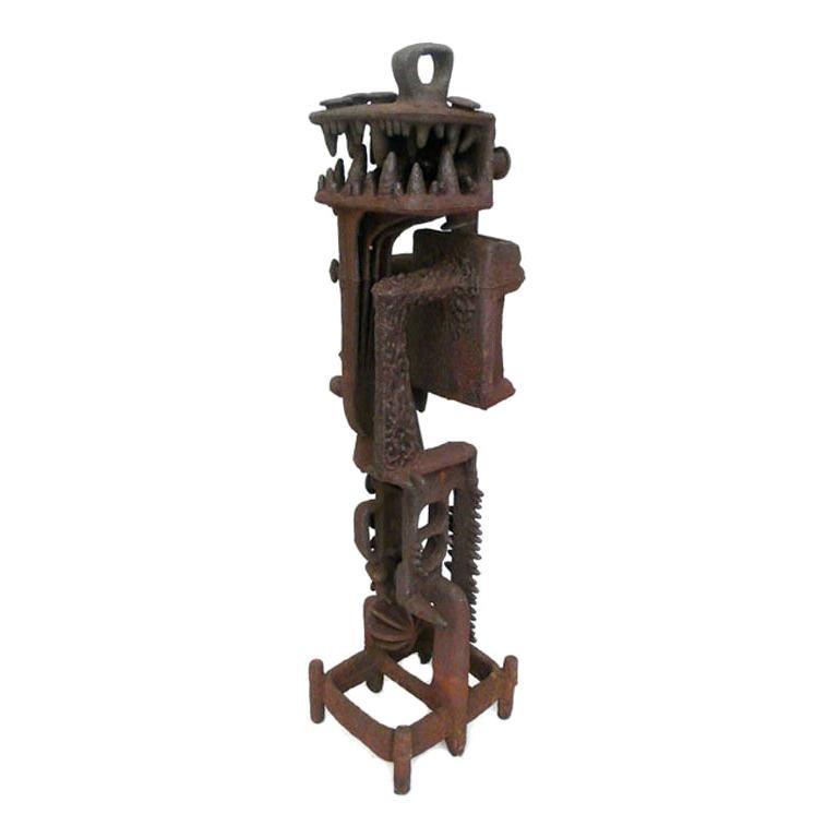 Cast Iron Sculpture For Sale