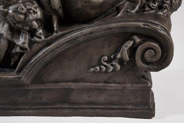 19th Century Cast Iron Statue of