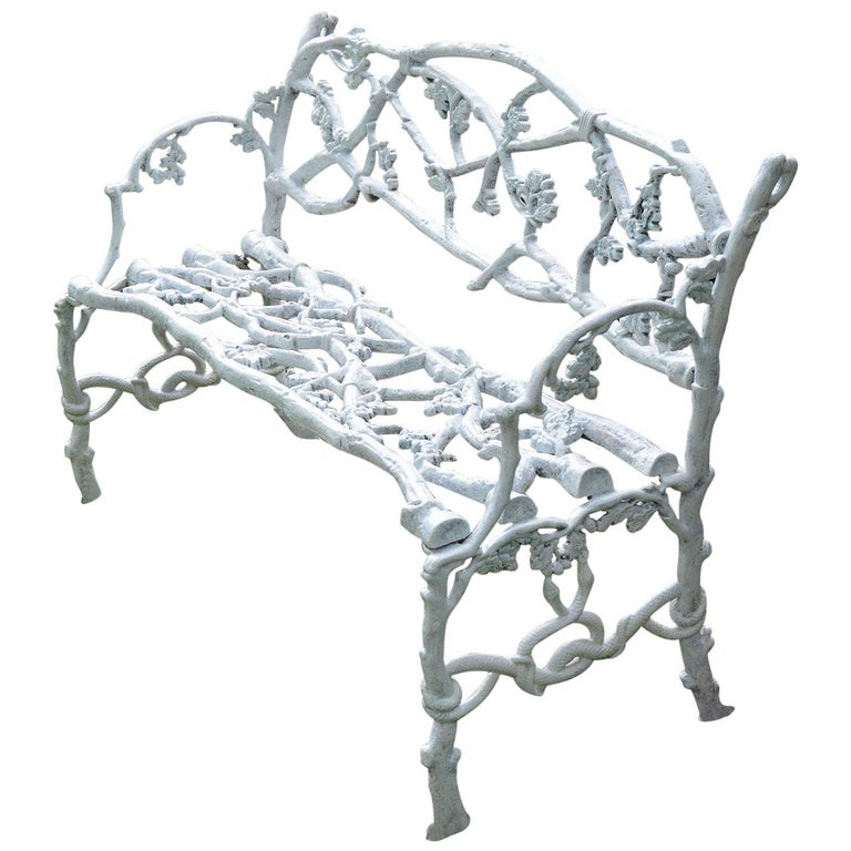 Cast-Iron Twig Settee For Sale