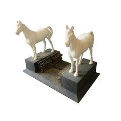 Cast Iron Twin Horse Boot Scraper, 19th Century