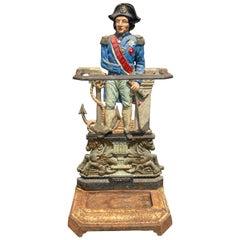 Cast Iron Umbrella Stand of Admiral Nelson
