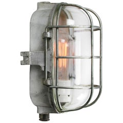 Cast Iron Vintage Industrial Clear Glass Wall Lamp Scone
