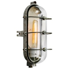 Cast Iron Vintage Industrial Clear Glass Wall Lamp Scones