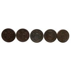Cast Iron West Side Highway Roundel Medallion Seal Set