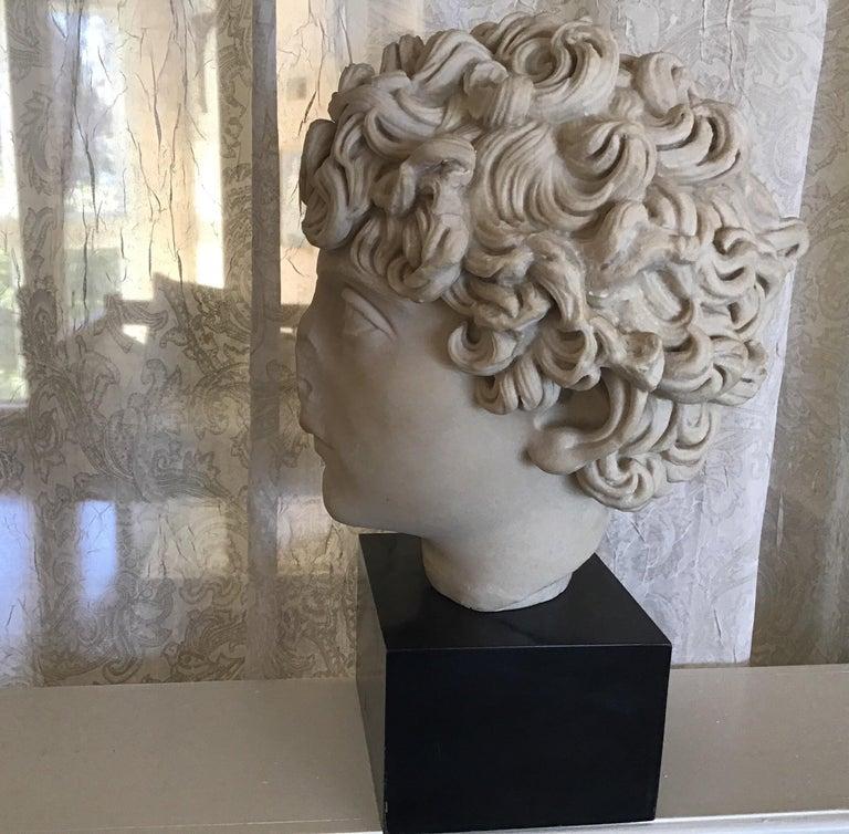 Cast Marble Roman Sculpture For Sale 1
