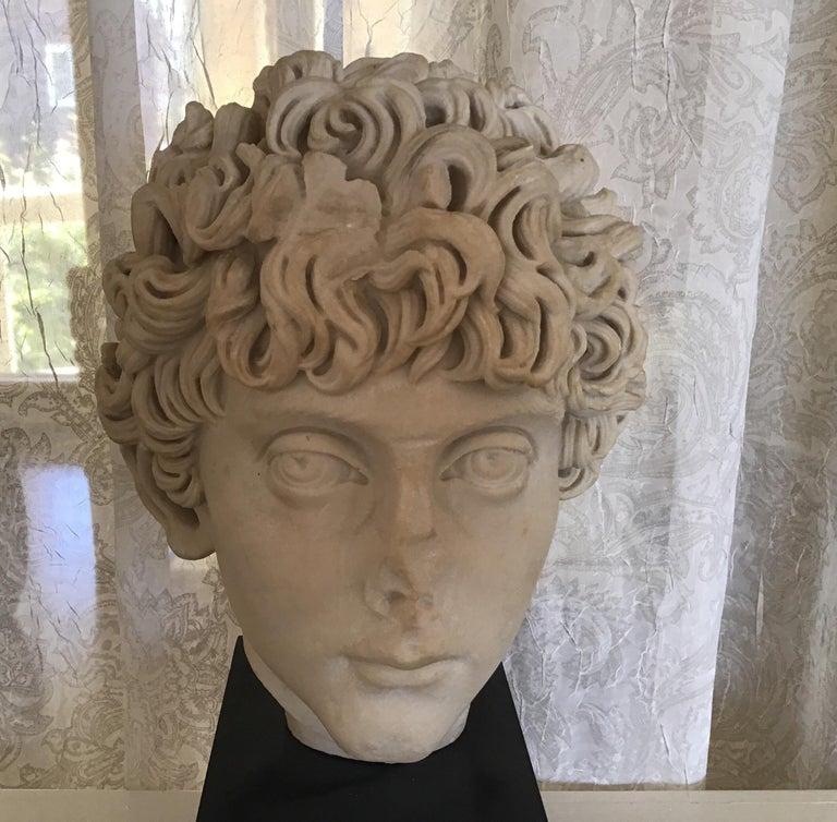 Cast Marble Roman Sculpture For Sale 2