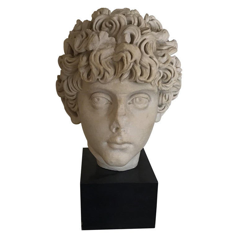 Cast Marble Roman Sculpture For Sale