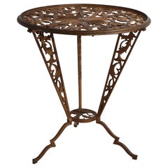 Cast Metal Art Deco Table by Hagenauer for Rena Rosenthal