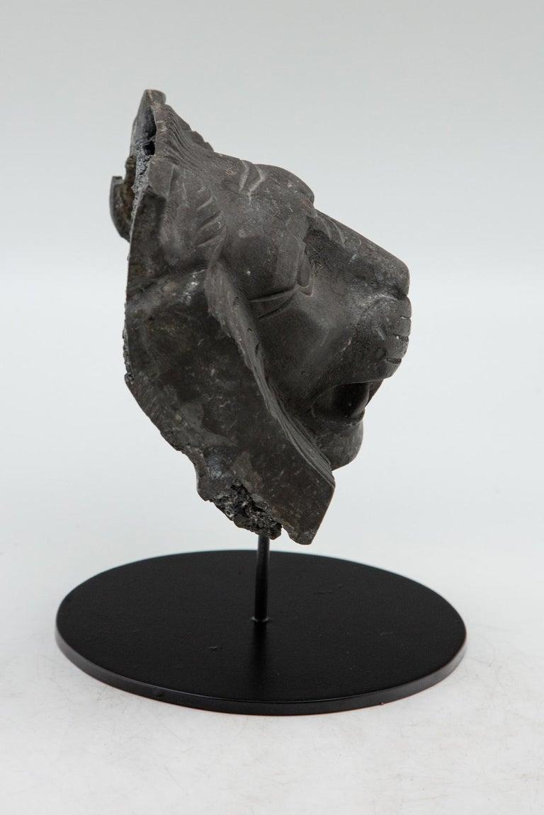 19th Century Cast Metal Lion Head For Sale
