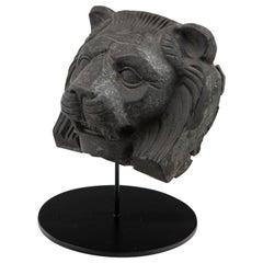 Cast Metal Lion Head