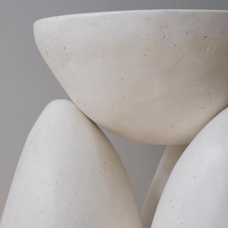 American Cast Plaster Minimalist Twyla-03 Side Table For Sale