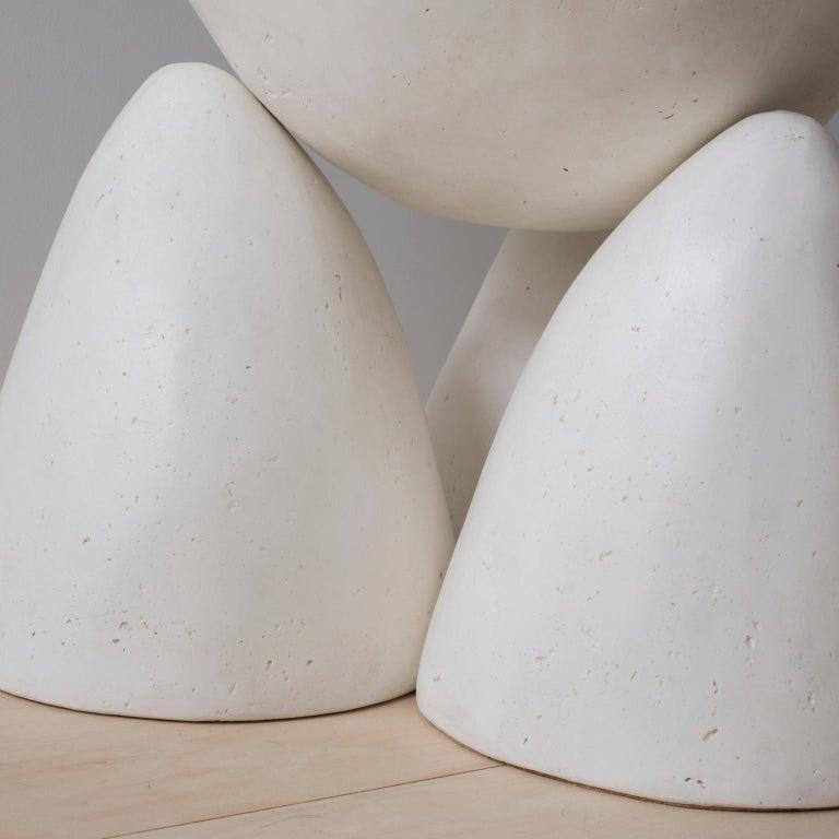 Cast Plaster Minimalist Twyla-03 Side Table For Sale 1