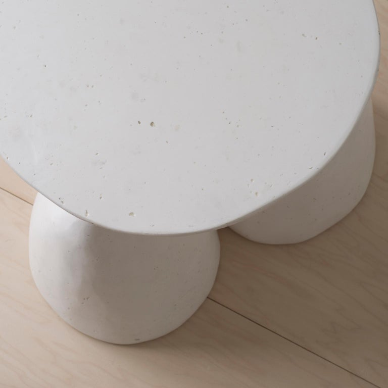 Cast Plaster Minimalist Twyla-03 Side Table For Sale 3