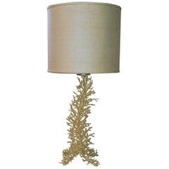 Cast Porcupine Coral Table Lamp, 1980s