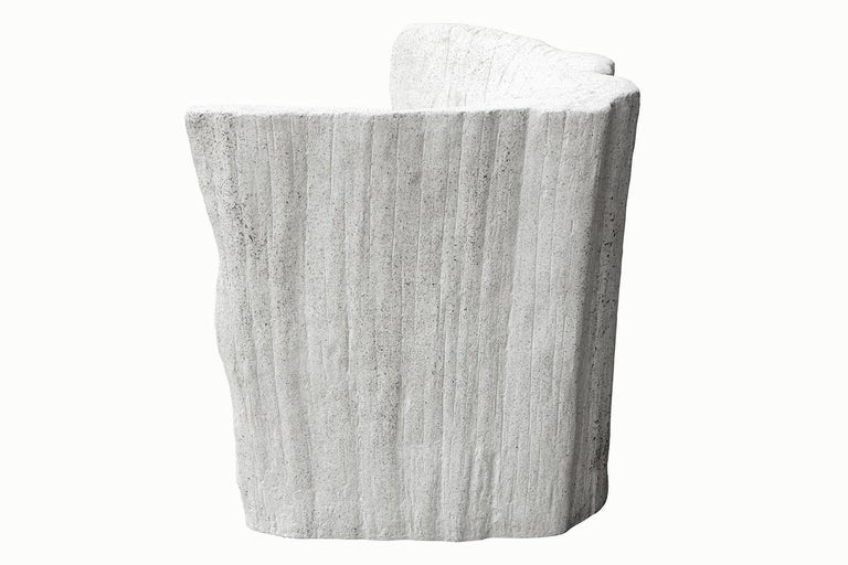 Minimalist Cast Resin 'Acacia' Chair, Natural Concrete Finish by Zachary A. Design For Sale