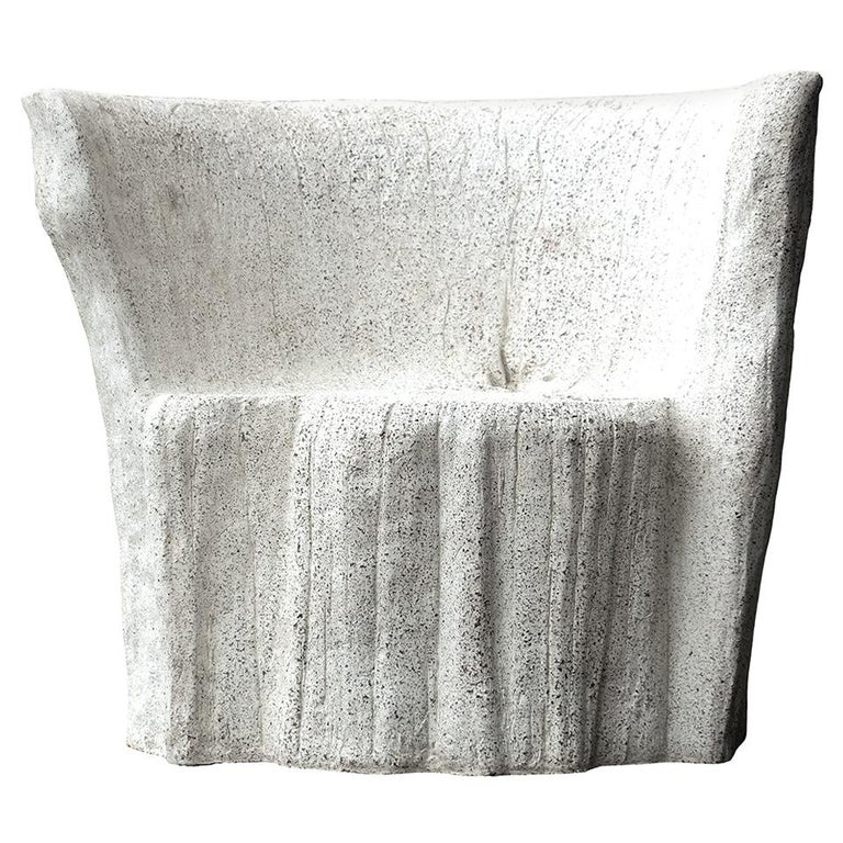 Cast Resin 'Acacia' Chair, Natural Concrete Finish by Zachary A. Design For Sale