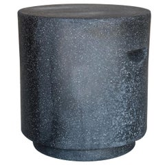Cast Resin 'Aileen' Side Table, Coal Stone Finish by Zachary A. Design