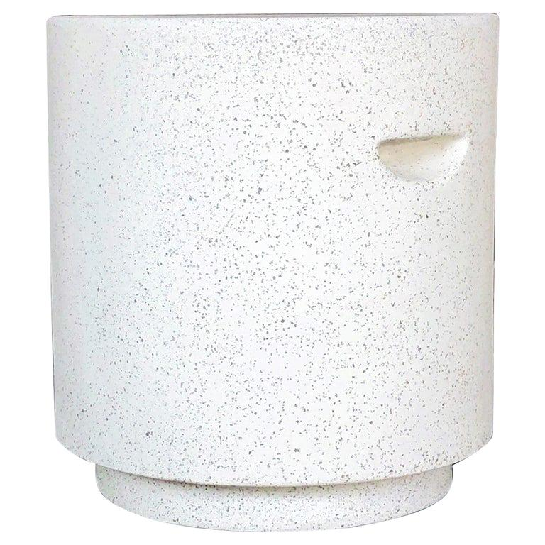 Cast Resin 'Aileen' Side Table, Natural Stone Finish by Zachary A. Design For Sale