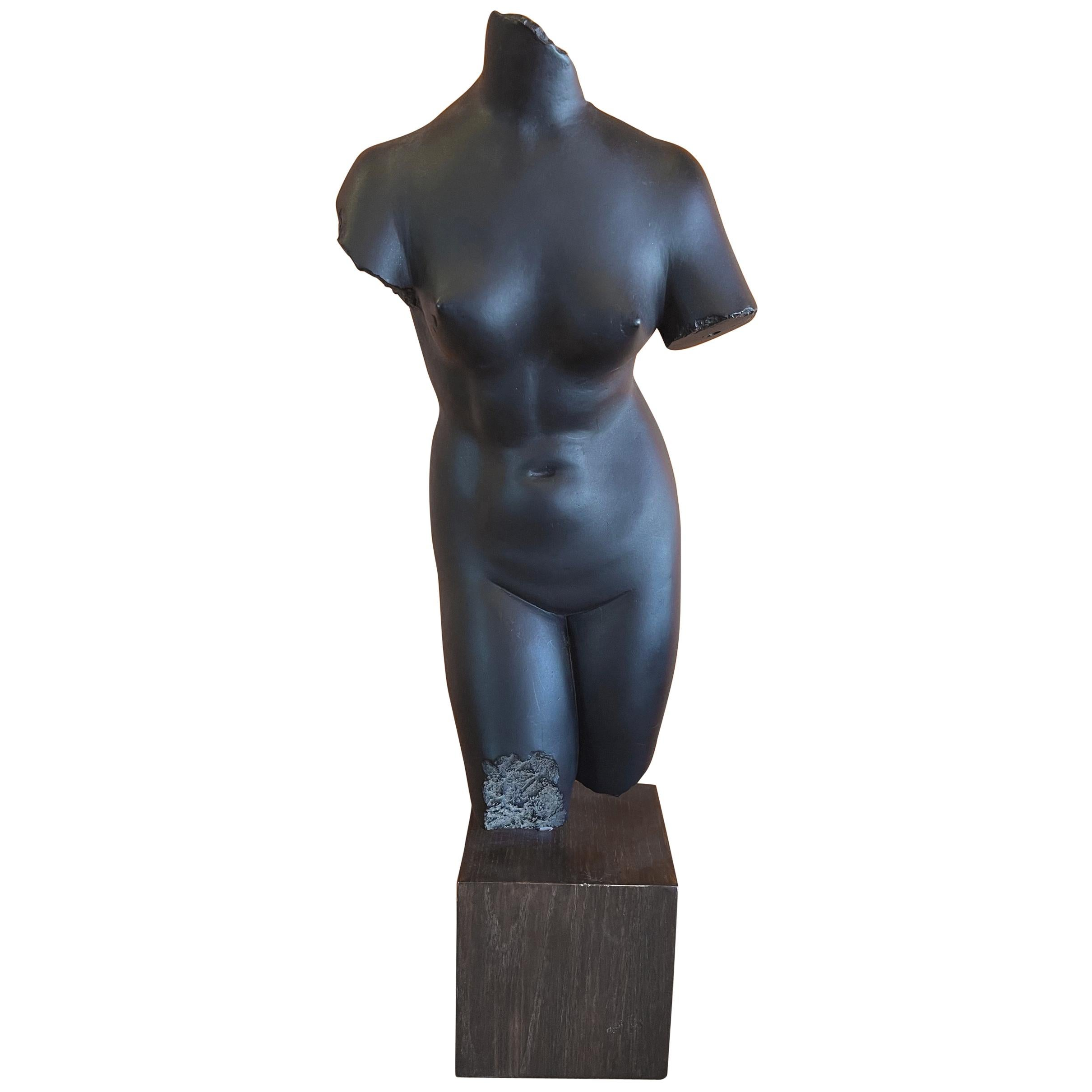 Cast Resin Aphrodite Anadyomene Sculpture on Base from the MOMA Collection