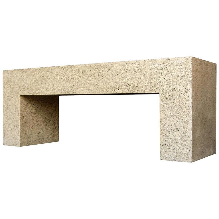 Cast Resin 'Aspen' Bench, Natural Stone finish by Zachary A. Design For Sale