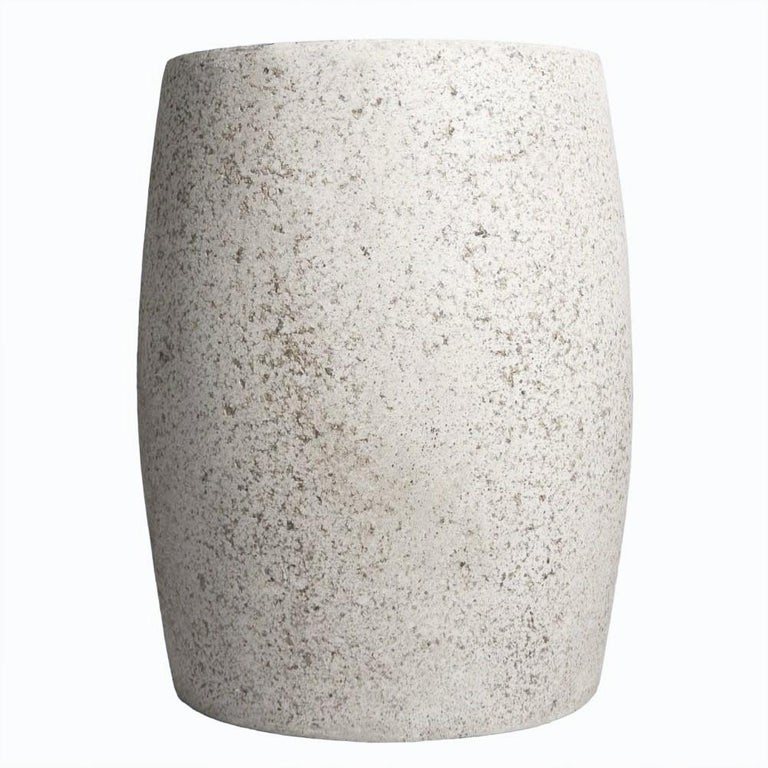 Versatility and elegance distilled into simplicity.   Dimensions: Diameter 14 in. (35.6 cm), height 18 in. (45.7 cm)., weight 20 lbs. (9 kg)  Finish Color options: white stone natural stone (shown) aged stone keystone coal stone