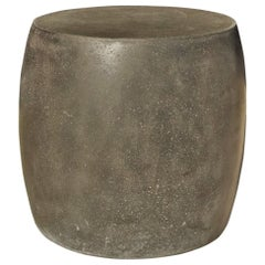 Cast Resin 'Barrel' Table, Coal Stone Finish by Zachary A. Design