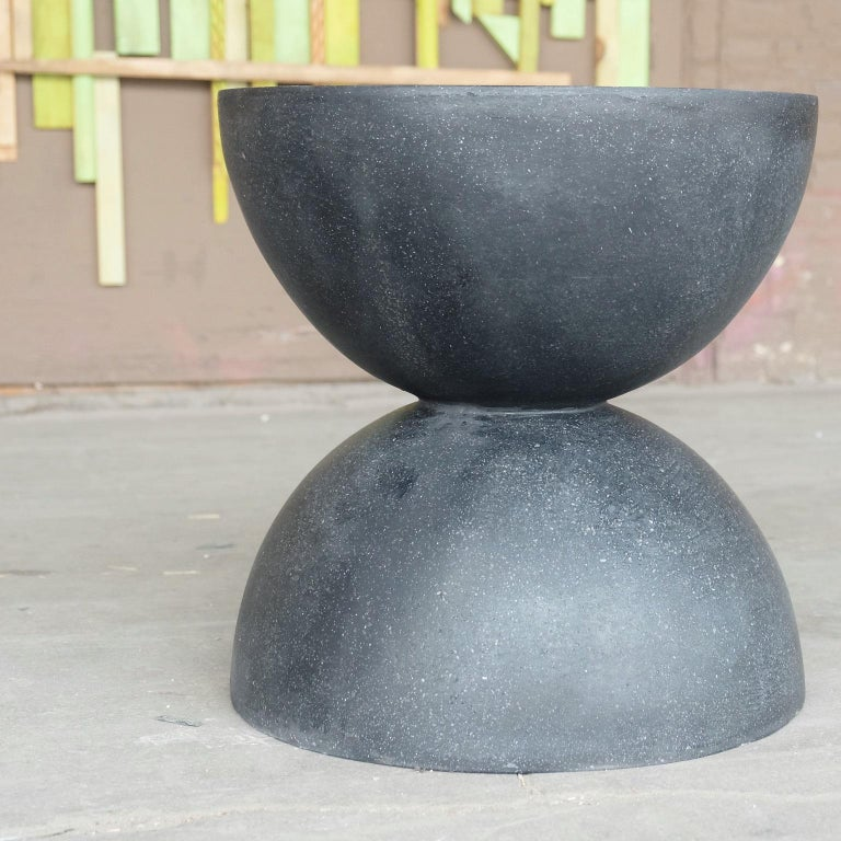 Cast Resin 'Bilbouquet' Side Table, Coal Stone Finish by Zachary A. Design In New Condition For Sale In Chicago, IL