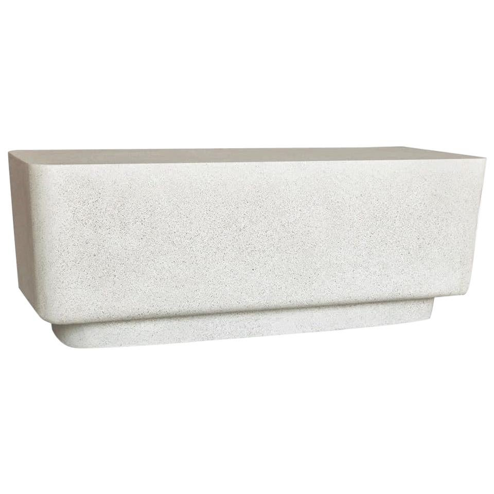 Cast Resin 'Block' Bench, Natural Stone Finish by Zachary A. Design
