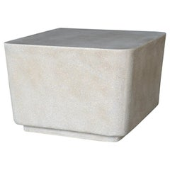 Cast Resin 'Block' Cocktail Table, Aged Stone Finish by Zachary A. Design