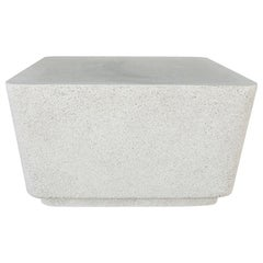 Cast Resin 'Block' Cocktail Table, Natural Stone Finish by Zachary A. Design