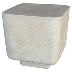 Cast Resin 'Block' Side Table, Aged Stone Finish by Zachary A. Design