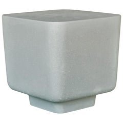 Cast Resin 'Block' Side Table, Gray Stone Finish by Zachary A. Design