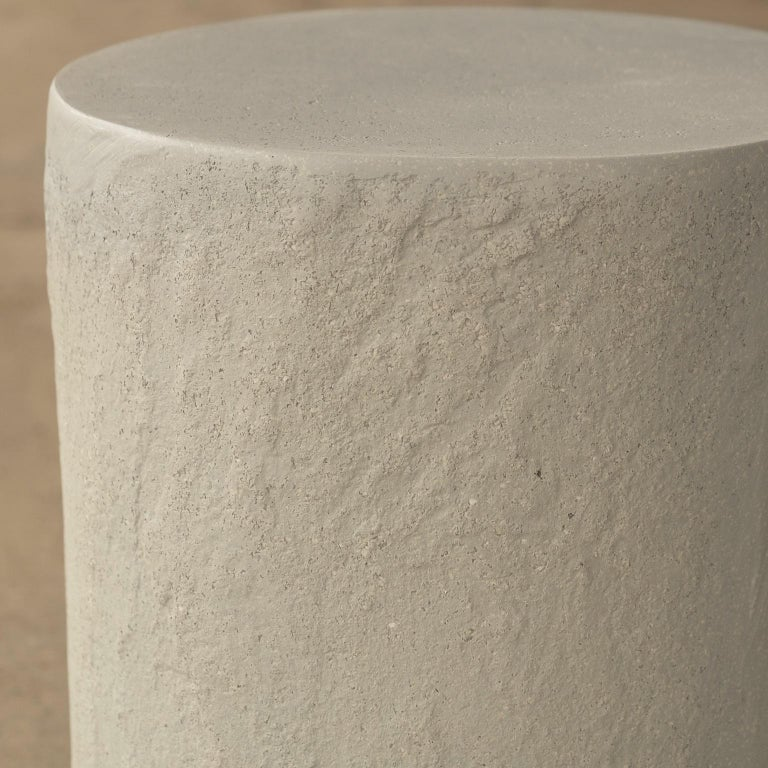 Contemporary Cast Resin 'Dock' Stool and Side Table, Keystone Finish by Zachary A. Design For Sale