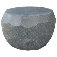 Cast Resin 'Facet' Coffee Table, Coal Stone Finish by Zachary A. Design