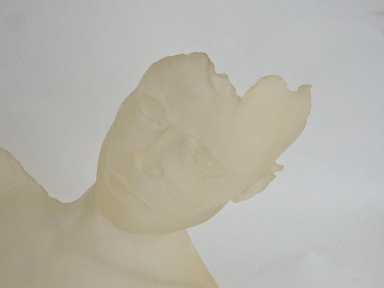 Cast Resin Female Torso Nude Sculpture In Good Condition For Sale In Ferndale, MI