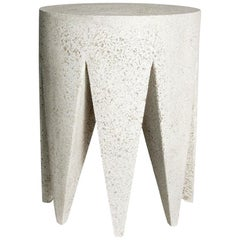Cast Resin 'King Me' Side Table, Natural Stone Finish by Zachary A. Design