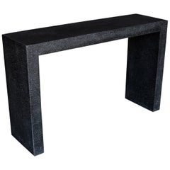 Cast Resin 'Lynne Tell' Console Table, Coal Stone Finish by Zachary A. Design
