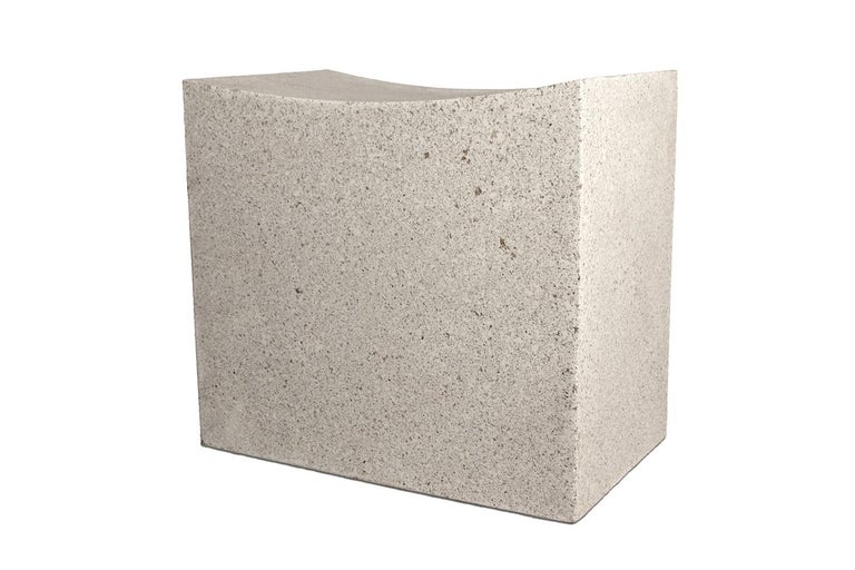 The Mason Cut stool is pictured in our Natural Stone finish. The texture and modern look of concrete make it appropriate for a wide variety of styles and spaces.  The Mason Cut stool (ZBT217) is 20
