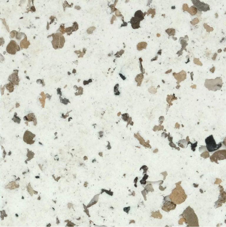 Fiberglass  Cast Resin 'Mason Cut' Stool, Natural Stone Finish by Zachary A. Design For Sale